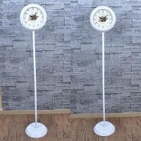 [미르엔] 플로어 화이트양면시계(YG)