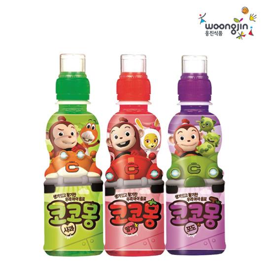 웅진식품 코코몽 사과/포도/딸기(200mlx24페트)
