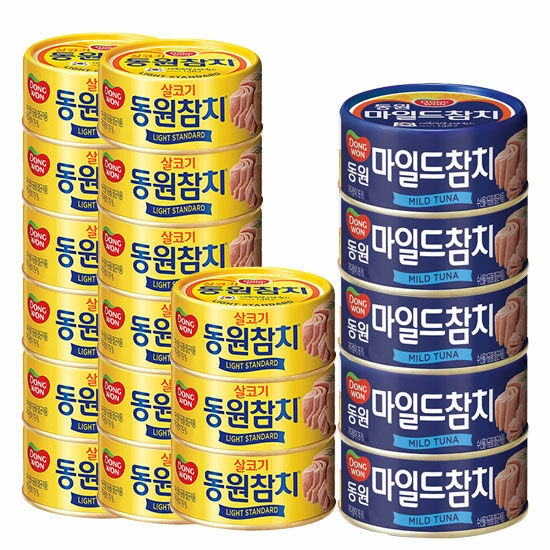 [동원]라이트스탠다드 100gx10캔+매운찌개참치100gx3캔 (총13캔)