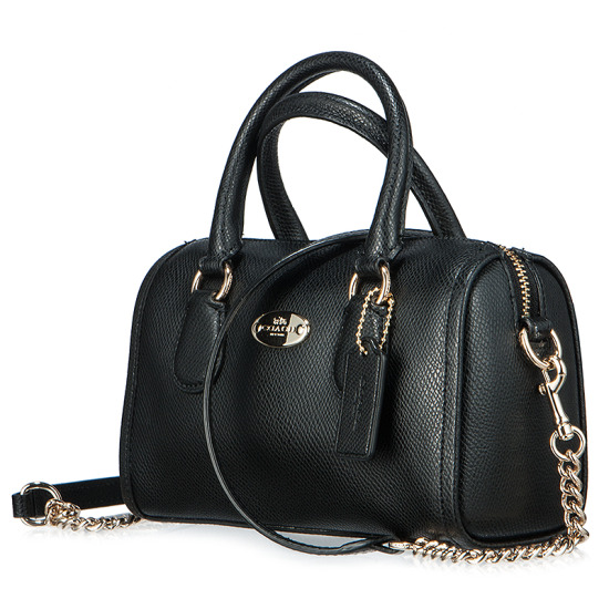 Túi Coach Crossgrain Leather Baby Bennet Mini Bag F34641 IMBLK