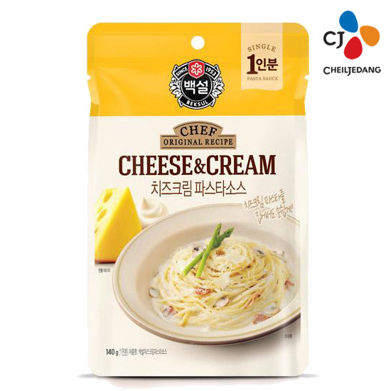 [CJ] 백설 치즈 크림 파스타 소스 (파우치) 140g