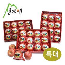 [산지애]프리미엄 씻어나온 특대사과 10.5kg(3.5kg * 3box)/박스당(10~12內)