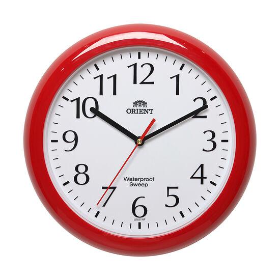 [오리엔트](OT651WPR)저소음 방수벽시계 레드 30cm