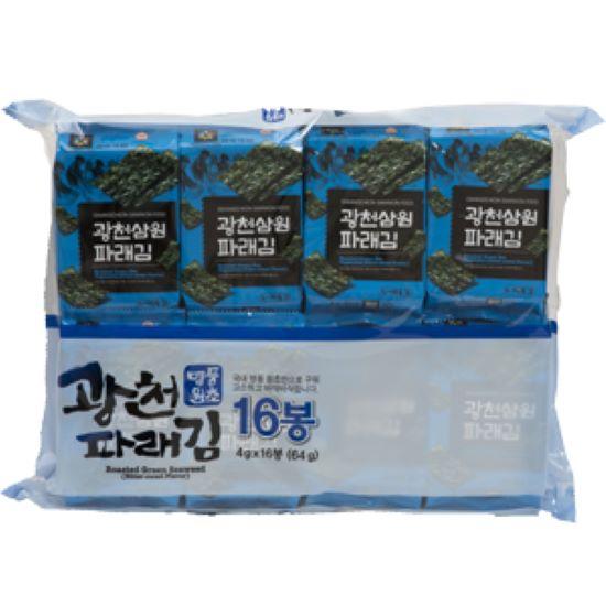 HACCP인증 광천김 도시락김 4gx16봉/파래김 재래김