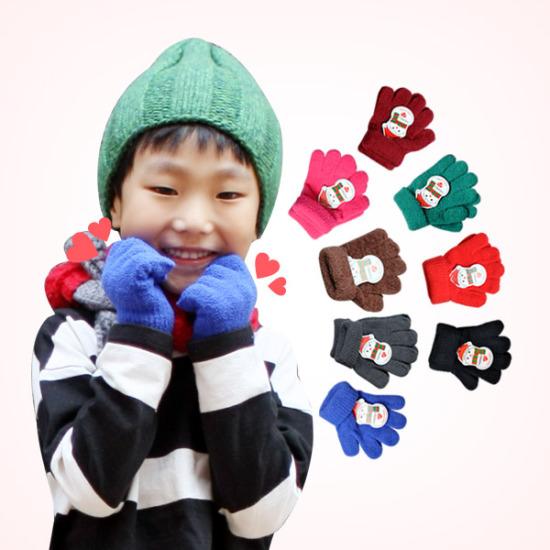 포근포근 보들보들 유아동 탁텔 손가락 장갑