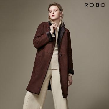 [16년 최신상] ROBO 리버시블 스탠카라 무스탕 코트