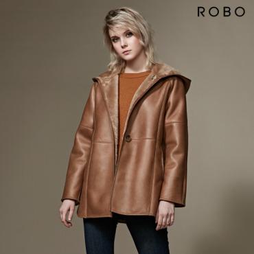 [최신상] ROBO 리버시블 후드 무스탕 코트