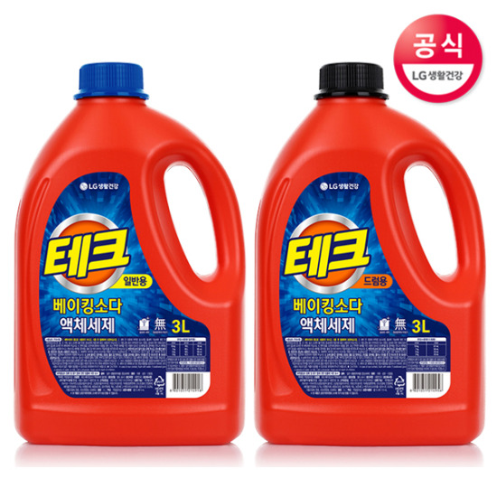 테크 베이킹소다 액체 세탁세제 3L