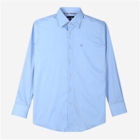 [DAKS MEN]블루 솔리드 레귤러핏 드레스셔츠 DMSH7E703B2