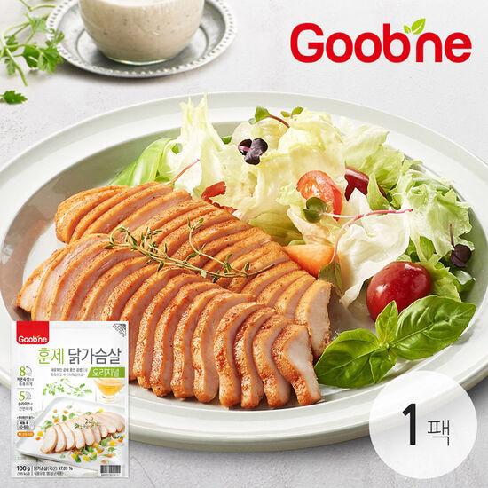 굽네 슬라이스 오리지널 훈제 닭가슴살 100g 1개_AG01