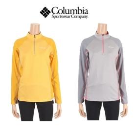 컬럼비아 여성 옴니위크 하프집업 티셔츠 CW1-YLP602