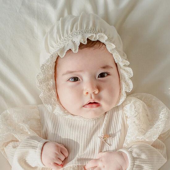[해피프린스] 엘리 오가닉 아기 보넷