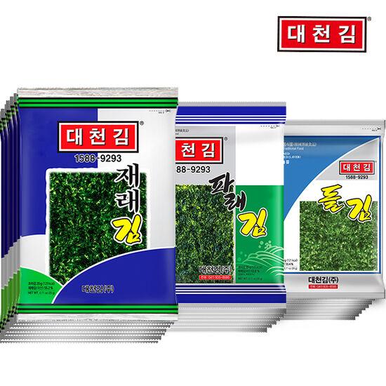 대천김 재래김/파래김/돌김 10봉+10봉