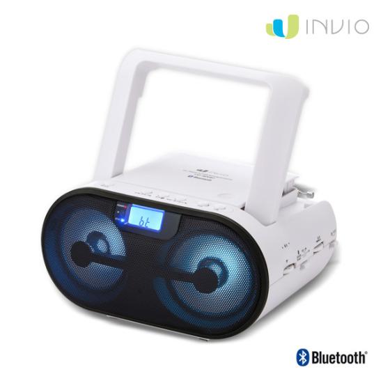 인비오 CD-800BT 블루투스 CD 플레이어 LED 이퀄라이저 USB/TF