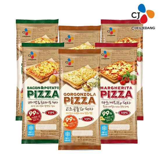 [CJ] 피자 3종 (베이컨 포테이토2+마르게리타2+고르곤졸라2)