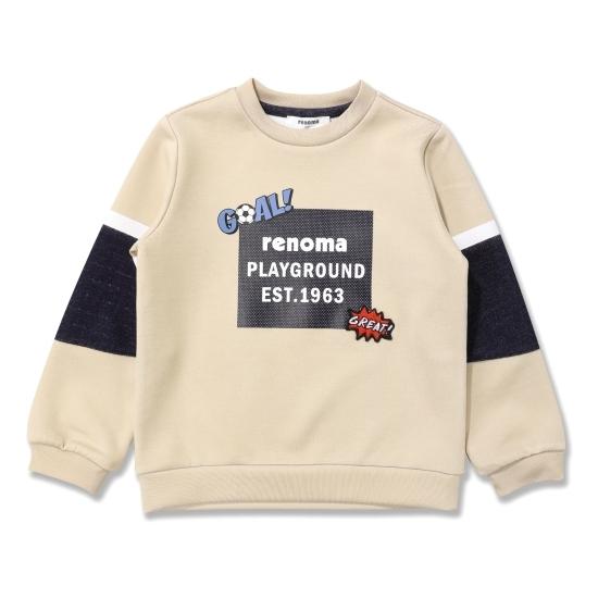 [레노마키즈]남아남아베이지소매배색티셔츠 (R1815T502_05)