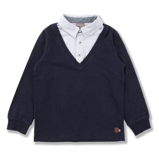 [페리미츠]남아클래식 셔츠 배색 T/S(P1811T102_11)