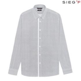 [SIEG FAHRENHEIT] 블랙 스틱 패턴 슬림핏 셔츠(FPBAX5037)
