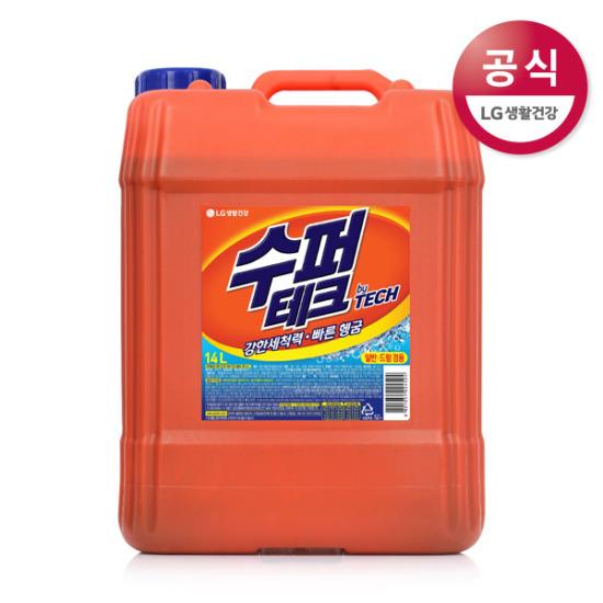 수퍼테크 일/드 겸용 액체세제 14L