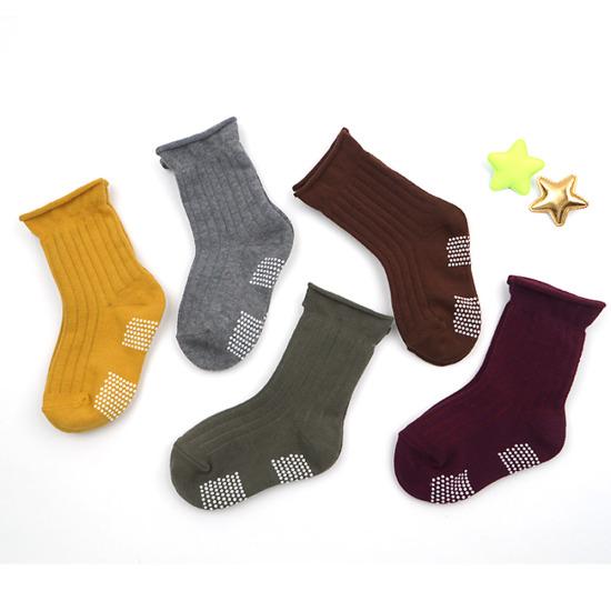 [키즈노리]  골지돌돌이  아동양말 5족/어린이/학생/유아/선물