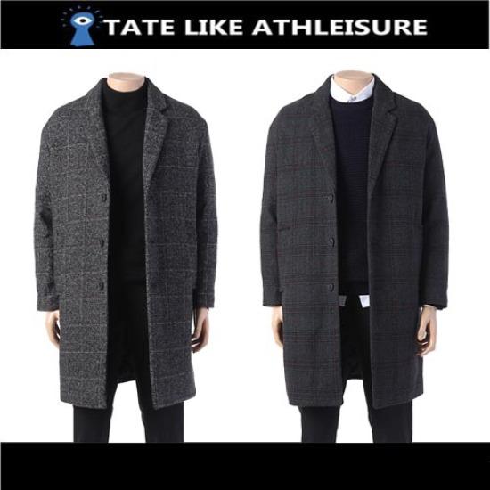 [TATE]JL 남성 오버핏 체크 코트 KA8W0-MCH900