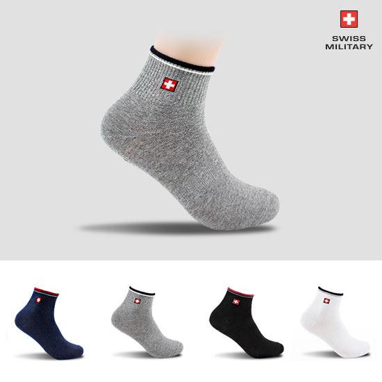 [스위스밀리터리] 남녀 발목양말 SM-04 4족