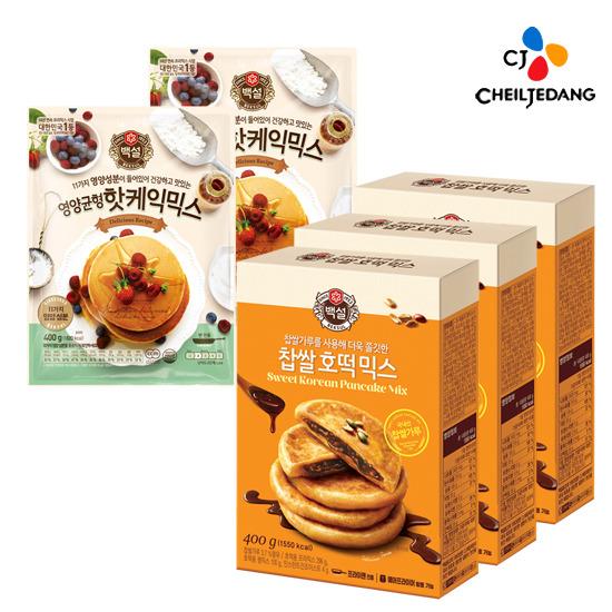 [CJ] 찹쌀호떡믹스 3개+영양균형 핫케익믹스 2개