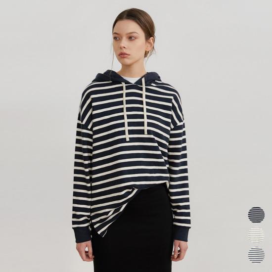 착한순면 슬럽 스트라이프 후드 티셔츠(MCB3-HD007-stripe)