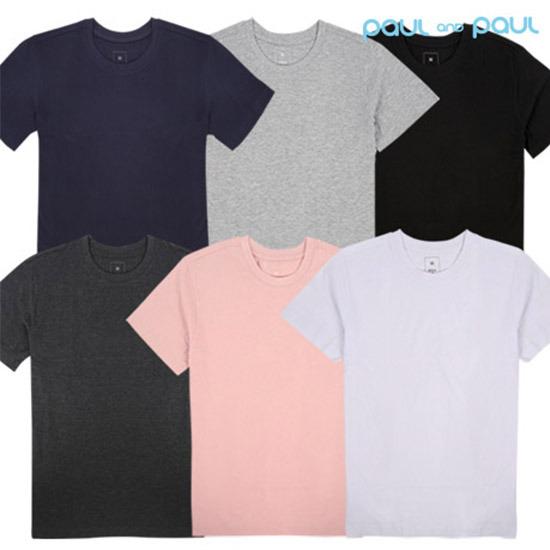 [폴앤폴]프리미엄 라운드 반팔 티셔츠6컬러 80부터 120까지 빅사이즈 무지 반팔티(남여공용)