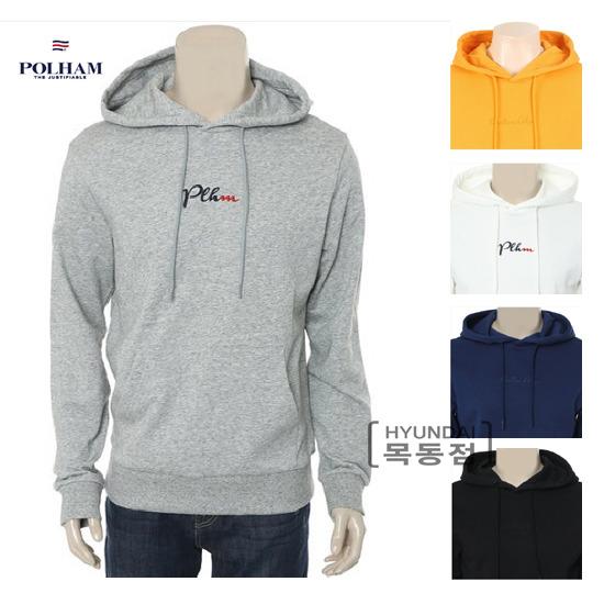 [폴햄][POLHAM][PHZ1TH3010]남녀공용 심플 레터링 후드 티셔츠