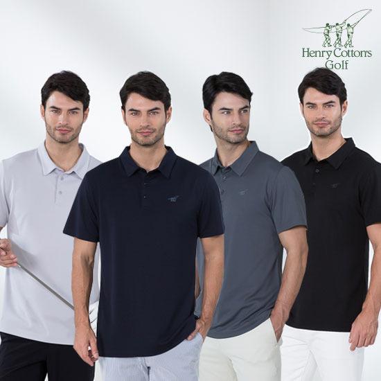 런칭가 49,900원) NEW 헨리코튼 골프 남성 폴로 티셔츠 4종