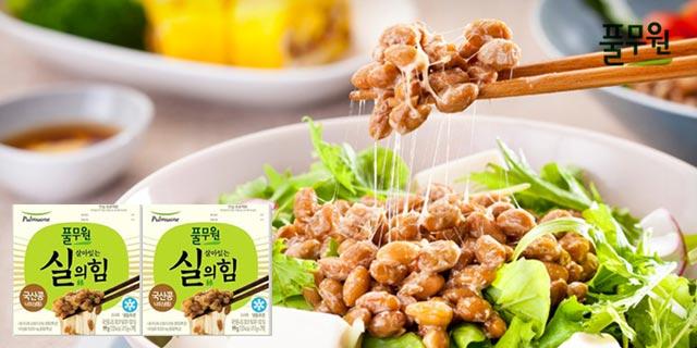 [풀무원] 살아있는 실의 힘 국산 콩 나또 72팩(냉동)
