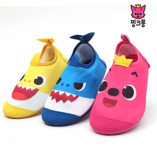 키즈노리] 핑크퐁 입체 아쿠아슈즈/아동/유아/물놀이신발/워터