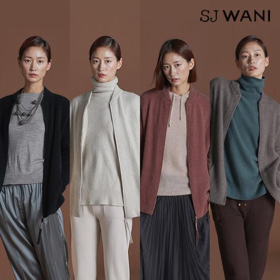 [런칭가159,000원]SJ WANI 폭스 니트 블루종 집업