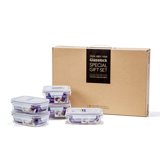 글라스락 클래식 5종 선물세트(BOX 포장)