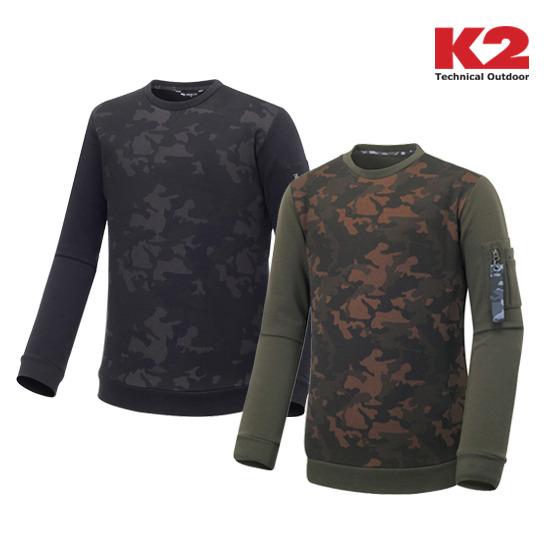 K2 남성 까모 라운드 티셔츠 (KMW16267)