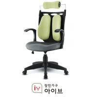 [장인가구]홈오피스 듀얼백 의자 (레드,그린)