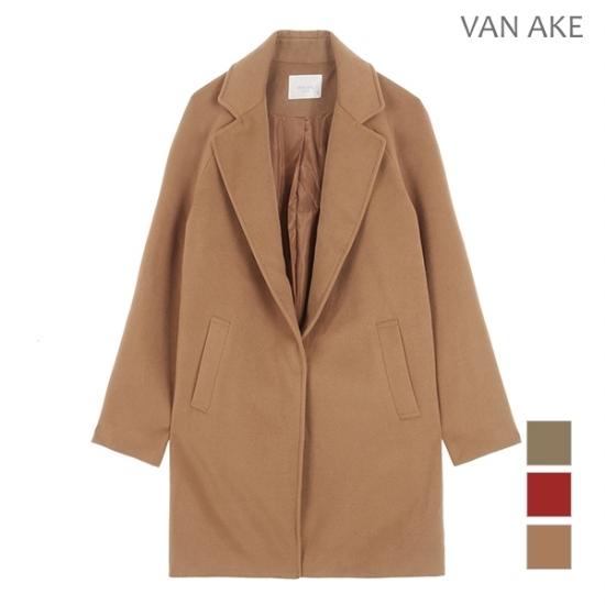 [반에이크] 여성 히든버튼 코트 자켓_V7YJKM201Z