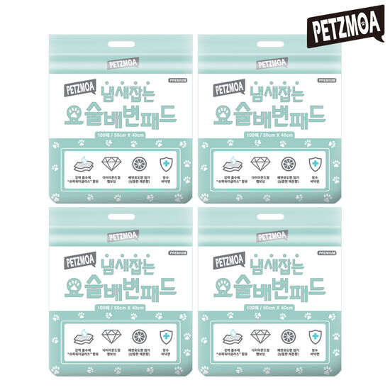 D)페츠모아 냄새잡는 요술배변패드 (100매X4팩, 총 400매)