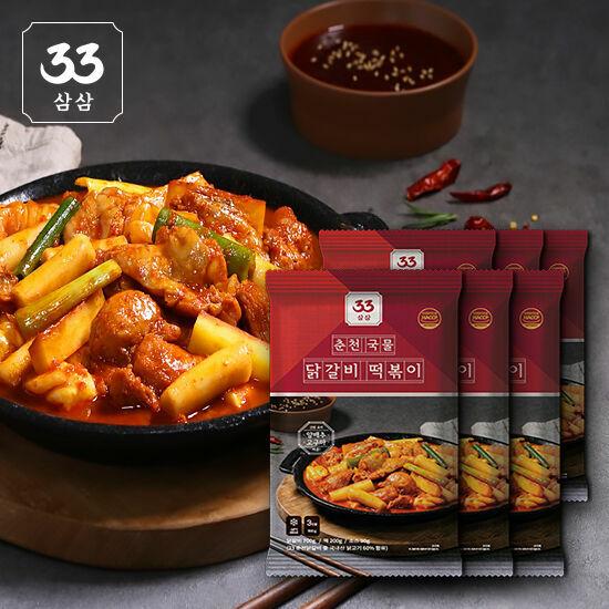 33 춘천 국물 닭갈비떡볶이 950g*6팩세트(닭갈비만 700g!)