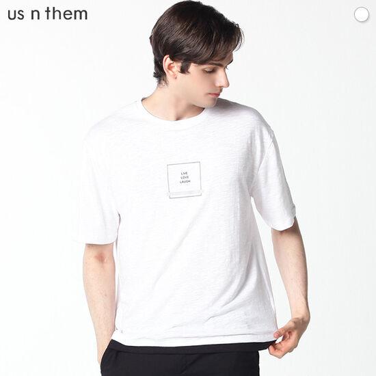 [US N THEM] 리브 러브 스퀘어 티셔츠
