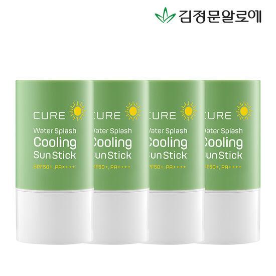 [김정문알로에] 큐어 쿨링 선스틱 23g 4개