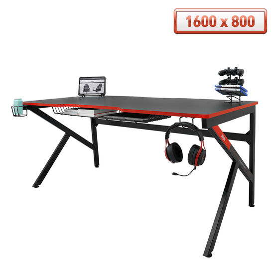[다나와 7% 추가할인]에이픽스 1인용 컴퓨터 게이밍 책상 GD001 1600L (1600x800)